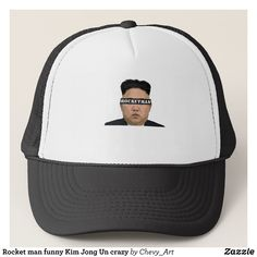 Rocket man funny Kim Jong Un crazy Trucker Hat - Fashionable Urban And Outdoor Hunter Farmer Trucker Hats By Creative Talented Graphic Designers - #hats #truckerhats #fashion #design #designer #fashiondesigner #style #trends #bargain #sale #shopping - Trucker Hats are a great way to cheer your team or promote your brand or make a unique fashion statement or simply keep the sun out of your eyes - Customizable trucker hats are the perfect way to look cool and memorable - Trucker Hats can be…