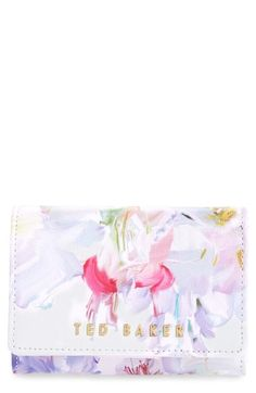 Ted Baker London 'Hanging Garden' Floral Print Leather Wallet available at #Nordstrom
