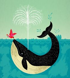 The Bird and The Whale  Iota Illustration