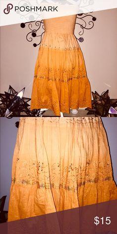 🌻 Strapless Orange Sundress with Tube Top 🌻 😊 Strapless Orange Sundress with Tube top.😊 Nancy K Dresses Strapless