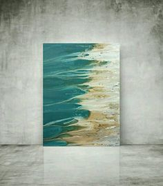 """Coastal Paintings LARGE original abstract by artist LDawningScott painting 30 X 40"""""""