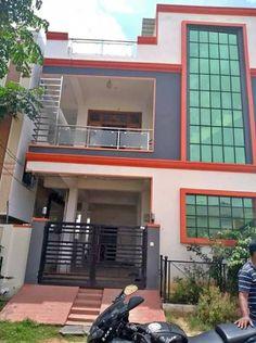 Duplex House Design, Duplex House Plans, House Front Design, Dream Home Design, New House Plans, Home Design Plans, Small House Plans, Front Elevation Designs, House Elevation