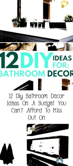 DIY Bathroom Decor Ideas that can be done with cheap Dollar Stores items  These DIY bathroom ideas are perfect for renters and people on a budget  Transform your small bathroom with these classy   easy ideas   decorRecamaras  Plantdecor  Apartmentdecor  Dresserdecor  LivingRoomdecor # # bathroom decor ideas themes<br> Diy Bathroom Decor, Budget Bathroom, Bathroom Ideas, Simple Bathroom, Diy Home Decor On A Budget, Cheap Home Decor, Decorating Blogs, Plant Decor, Dollar Stores
