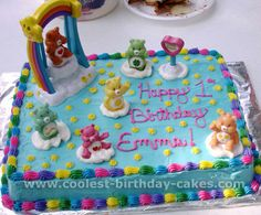 Sofia is now into Care Bears..we shall see what her birthday will be this year..This looks simple though..i could totally make this