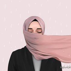 Beautiful Girl Makeup, Beautiful Hijab, Beautiful Girl Drawing, Cute Muslim Couples, Muslim Girls, Cartoon Girl Images, Girl Cartoon, Cartoon Art, Hijabi Girl