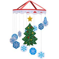 Mobile: Christmas 01,Home and Living,Paper Craft,Christmas,Christmas Tree,Christmas color,Snow crystal,star