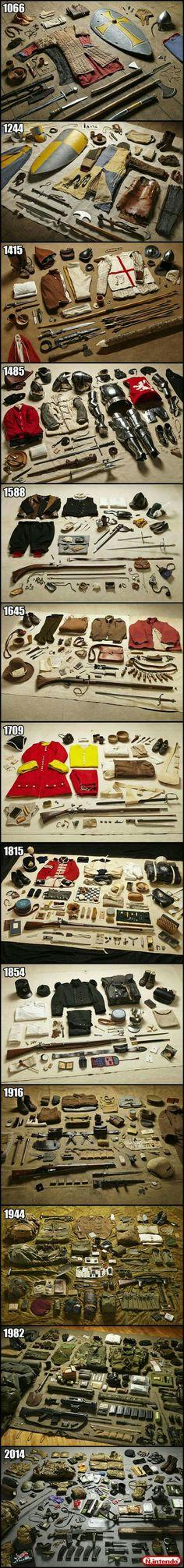 Evolution of war essentials. - 9GAG