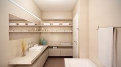 #Bright #House #Interior #Design #Wood #Architecture #Orange #Bathroom #Space #Light #Bloomsbury