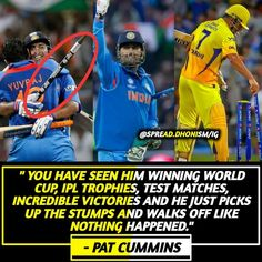 2011 Cricket World Cup, India Cricket Team, Dhoni Quotes, Ms Dhoni Photos, Chennai Super Kings, Just A Game, The Incredibles, Baseball Cards, Shit Happens
