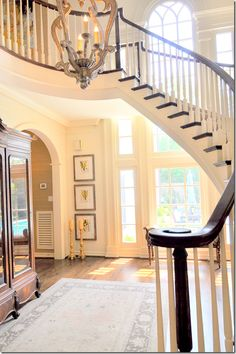 how beautiful- cote de texas Someday I would love to change my staircase.....