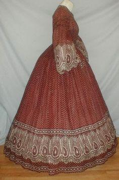 1860's paisley dress.