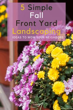 Can you landscape your yard in the fall? The answer is yes. Learn five fall landscaping ideas to help you get started and wow your neighbors. Front Yard Landscaping Pictures, Landscaping Ideas, Rubber Mulch, Your Neighbors, Black Eyed Susan, Landscape Plans, Pansies, Colorful Flowers, Color Splash
