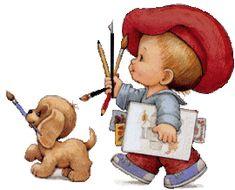 .Amo carinhas redondilhas.....Amo pincéis.....Amo pintar....