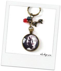 Porte clés vintage Marilyn Monroe  cabochon  bronze par alodycrea - Marilyn Monroe
