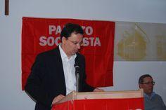 Gianluca Bruno durante il suo intervento al Congresso del Partito Socialista di Alessandria.