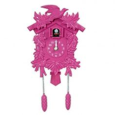 $35.10. Love the pink cockoo clock...but think white might look better in my room...wonder if the pink would work