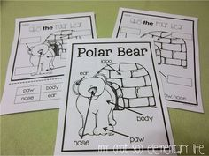 Label the polar bear activity...a part of a polar bear unit and craft pack you can use to supplement your polar bear discussions in your classroom
