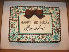 Teal And Brown Color Scheme on Cake Central