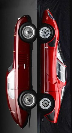 The unique class of Alfa Romeo. 1939 Alfa Romeo 6C 2500 SS Berlinetta Aerodinamica | 1967 Alfa Romeo Tipo 33 Stradale.