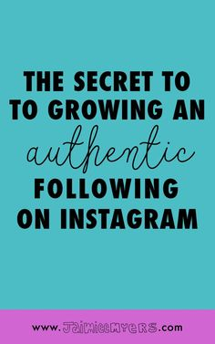The Secret to Growing an Authentic Following on Instagram | Jaimie Myers | Want to get more followers on Instagram? The secret is out - it's through engagement! There are three places to start a conversation on Instagram small businesses and creatives might not already be, including using hashtags! Grow your following and make more money using these easy tips! Click through to read or pin for later!