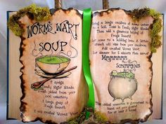 Nightmare B4 Christmas Sally recipe worms wart soup spell book halloween prop