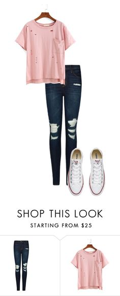"""Untitled #72"" by kbwalrus on Polyvore featuring J Brand and Converse"