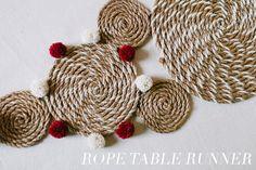 DIY Rope Table Runner