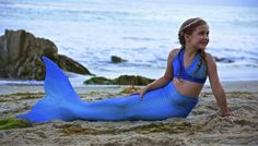 Swimmable Mermaid Tail Affordable Fun with Fin by Catalina Sea Blue Mermaid Pose, Mermaid Fin, Mermaid Photos, Mermaid Tails For Kids, Ariel The Little Mermaid, Fin Fun, Baby Shop Online, Mother And Child, Poses