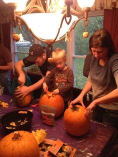 {pumpkin carving party}  #halloween #jackolantern