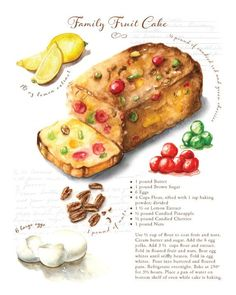 Custom recipe art created for your favorite family recipes - Comes with 8 prints Banana Bread Recipes, Cake Recipes, Dessert Recipes, Potato Recipes, Salad Recipes, Crockpot Recipes, Cooking Recipes, Healthy Recipes, Chickpea Recipes