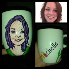Hand painted mug, made for a MacDonalds and Coca Cola loving collegue Michelle.