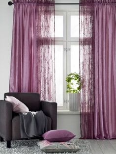 Rosa gardinen pink gardine blickdicht vorhangstoffe for Gardinen pink