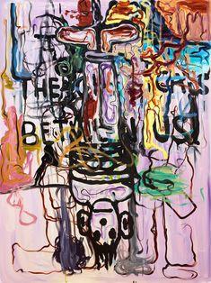 Signed Melgaard and dated 2001 on verso. Canvas 160 x 120 cm. Institute Of Contemporary Art, London Art, Outsider Art, Artist At Work, Art World, Figurative Art, Cool Art, Fine Art, Cool Stuff