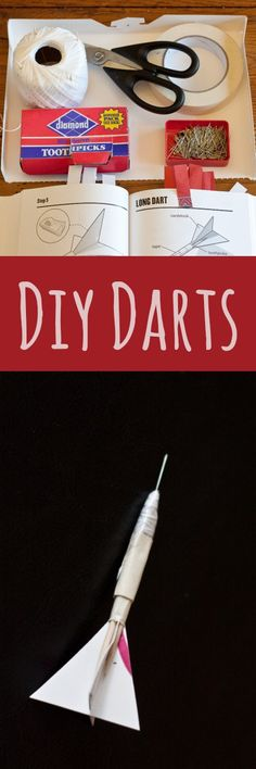 Perfect for dart games, these DIY darts are easy to make with common household items. A perfect craft project for boys and Scouts, especially when they design their own dart board.