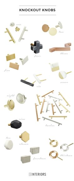 Hey hey! So I came across some new hardware – knobs and handles – that are seriously TO DIE FOR. Jackpot! One of my favorite stores, CB2, juuuuuuust released some new amazing options from marble, to brass, to copper, and cement. So maybe you are wondering where to use these?! We love customizing kitchens with unique hardware, giving a dresser or buffet new life with updated knobs or adding fun pulls to a bathroom vanity. The options are endless! Have you found a piece of furniture you love…