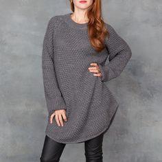 4640a20263 Tamarind - Ali Golden Charcoal Sweater Dress