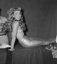 Ann Blyth on the set of Mr. Peabody and the Mermaid (1948)