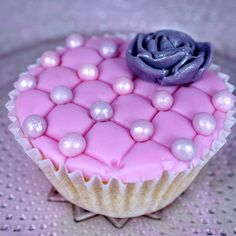 Pink Quilted Cupcake