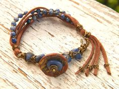awesome DIY Bijoux - Art Jewelry Elements: Make Your Own ~ Wire-wrapped Suede Tassel Bracelet Check more at https://listspirit.com/diy-bijoux-art-jewelry-elements-make-your-own-wire-wrapped-suede-tassel-bracelet/