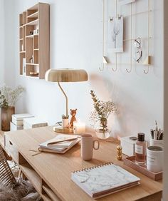 40 Popular Scandinavian Home Office Ideas You Were Looking For - Woodworking project plans appear to be extremely important when it comes to make a surprising decoration for your house or office. Without woodwork yo. Workspace Inspiration, Decoration Inspiration, Room Inspiration, Home Office Design, Home Office Decor, Home Decor Bedroom, Office Ideas, Office Inspo, Cosy Home Decor