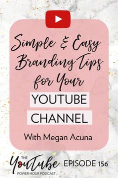 Super easy and simple branding tips for your YouTube channel! Beauty and The Vlog by Erika Vieira - Grow Your YouTube Channel #YouTube #YouTubeChannel #ErikaVieira Social Media Tips, Social Media Marketing, Content Marketing, Marketing Strategies, Affiliate Marketing, Branding Your Business, Business Tips, Craft Business, Personal Branding