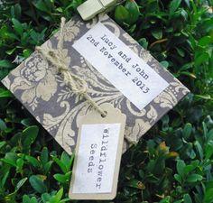 Wildflower Seed Personalised Wedding Favours £1.85