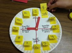 Telling Time to the 5 minute mark with Quarter til and Half past lines