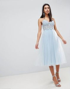 7b2e852ad39e ASOS PREMIUM Lace Cami Top Tulle Midi Dress Tank Top Outfits, 15  Klänningar, Formella