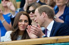 Cheering them on: The royal couple watched the ladies' single quarter final match between ...