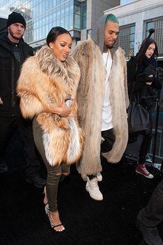 Chris Brown and Karrueche Attend Michael Costello Show | Rap-Up