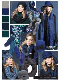 AW13 Twilight - an array of deep shades such as sapphire and pine.