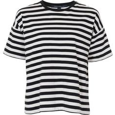 French Connection Carnaby Stripe T-Shirt , Black / Winter White