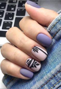 66 Natural Summer Nails Design For Short Square Nails – Page 29 of 66 - Summer Nail Purple Ideen Natural Nail Designs, Purple Nail Designs, Short Nail Designs, Nail Art Designs, Nails Design, Short Square Nails, Short Nails, Purple Nails, Red Nails