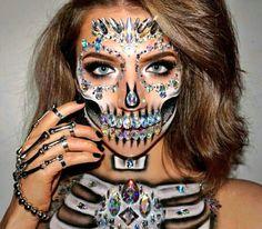 Halloween makeup: Crystal Skull by sarahnewsfx